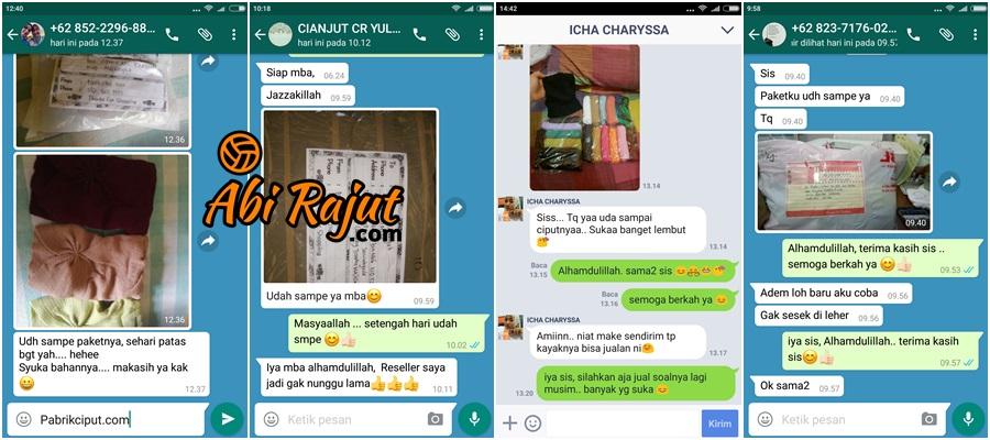 Pabrik Ciput Rajut - Testimoni 1
